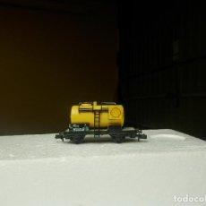 Trenes Escala: VAGÓN CISTERNA SHELL ESCALA N DE FLEISCHMANN. Lote 294973743