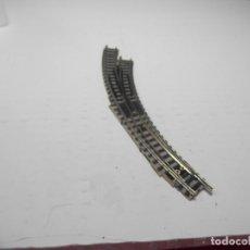 Trenes Escala: DESVIO EN CURVA ESCALA N DE FLEISCHMANN. Lote 297087298