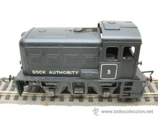 Trenes Escala: HORBY MECANO- LOCOMOTORA DOCK AUTHORITY Nº3-CORRIENTE CONTINUA-ESCALA H0- - Foto 2 - 29329132