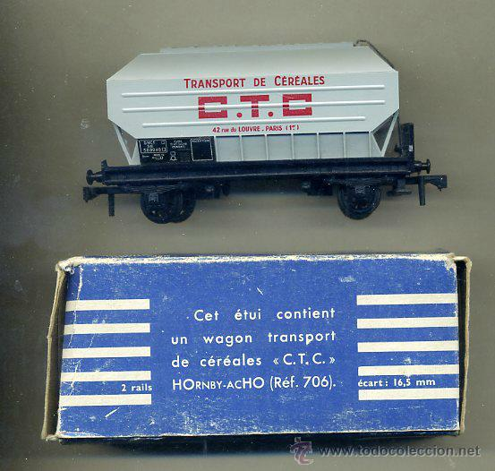 MECCANO / HORNBY -AC H0 - RFA. 706 - VAGON SNCF FRANCIA / CEREALES C.T.C. (Juguetes - Trenes Escala H0 - Hornby H0)