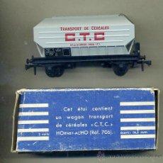 Trenes Escala: MECCANO / HORNBY -AC H0 - RFA. 706 - VAGON SNCF FRANCIA / CEREALES C.T.C.. Lote 45490995