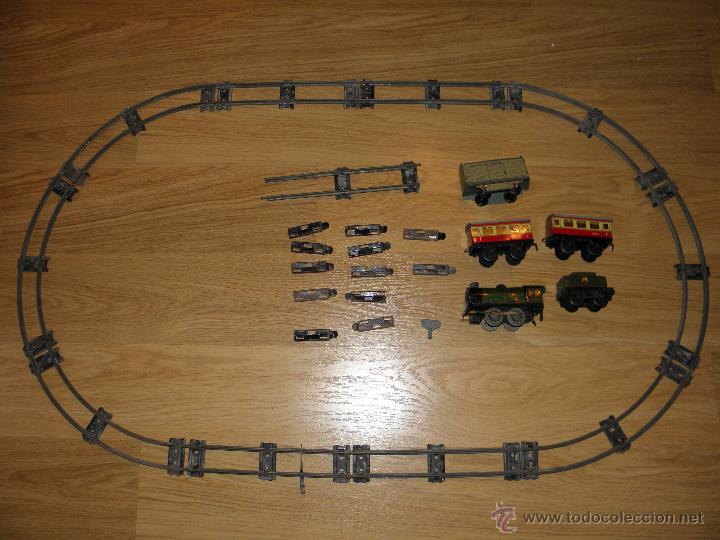 Trenes Escala: TREN HORNBY H0 SET Nº 21 MECCANO DE HOJALATA A CUERDA - Foto 6 - 32977628