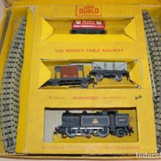 Trenes Escala: MECCANO LTD. EDG16 HORNBY DUBLO ELECTRIC TRAIN 0-6-2 TANK GOODS TRAIN 30016 60'S. Lote 76184439