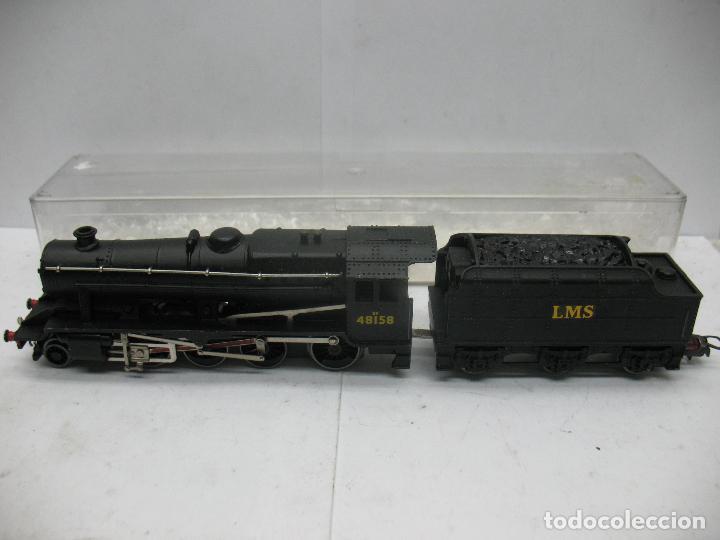 HORNBY DUBLO MECCANO - LOCOMOTORA DE VAPOR CON TENDER 48158 LMS CORRIENTE CONTINUA - ESCALA H0 (Juguetes - Trenes Escala H0 - Hornby H0)