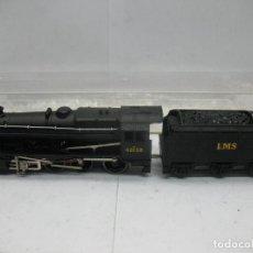 Trenes Escala: HORNBY DUBLO MECCANO - LOCOMOTORA DE VAPOR CON TENDER 48158 LMS CORRIENTE CONTINUA - ESCALA H0. Lote 81303392