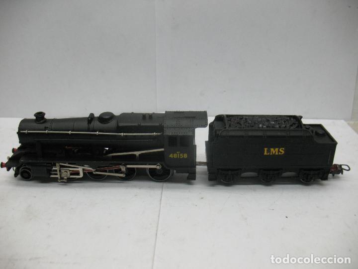 Trenes Escala: Hornby Dublo Meccano - Locomotora de vapor con tender 48158 LMS corriente continua - Escala H0 - Foto 2 - 81303392