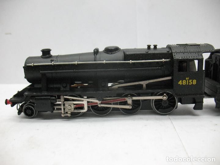 Trenes Escala: Hornby Dublo Meccano - Locomotora de vapor con tender 48158 LMS corriente continua - Escala H0 - Foto 3 - 81303392