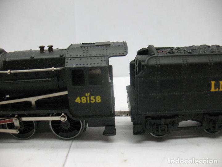 Trenes Escala: Hornby Dublo Meccano - Locomotora de vapor con tender 48158 LMS corriente continua - Escala H0 - Foto 4 - 81303392