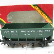 Trenes Escala: HORNBY - VAGÓN DE MERCANCÍAS CONSETT IRON LIMITES 1441 - ESCALA H0. Lote 83829788