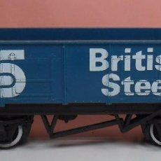 Trenes Escala: HORNBY 00 - VAGÓN DE BORDE ALTO BRITISH STEEL. Lote 89866252