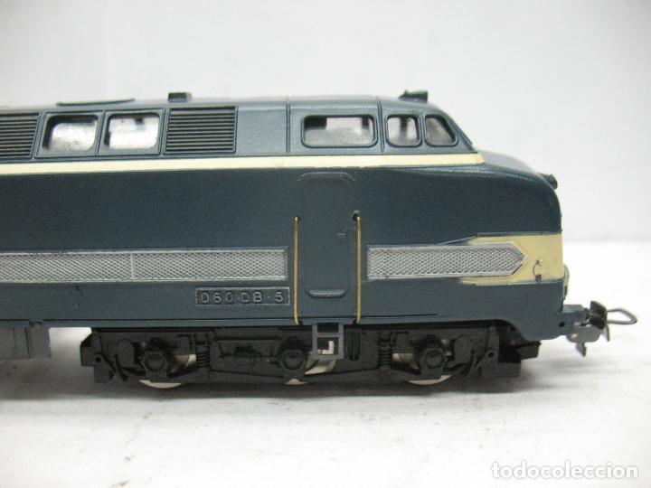 Trenes Escala: Hornby Meccano - Antigua locomotora Diesel de la SNCF 060 DB 5 corriente continua - Escala H0 - Foto 5 - 153941634