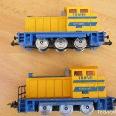 Trenes Escala: IBERTREN DOS TRACTORES TRANSCONTAINER AMARILLOS . Lote 101002891