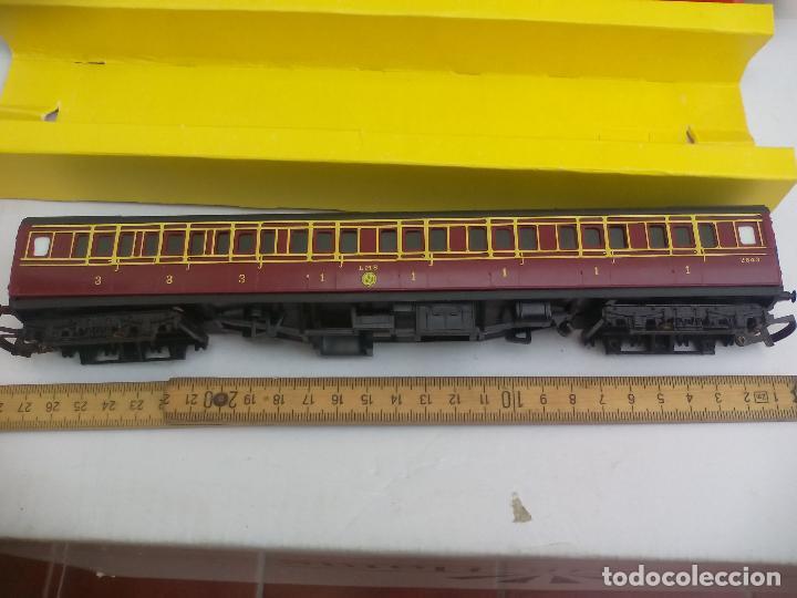 Trenes Escala: Vagón de tren Tri-ang Hornby Railways Composite Coach. R 747. Sin las ruedas - Foto 2 - 111324755