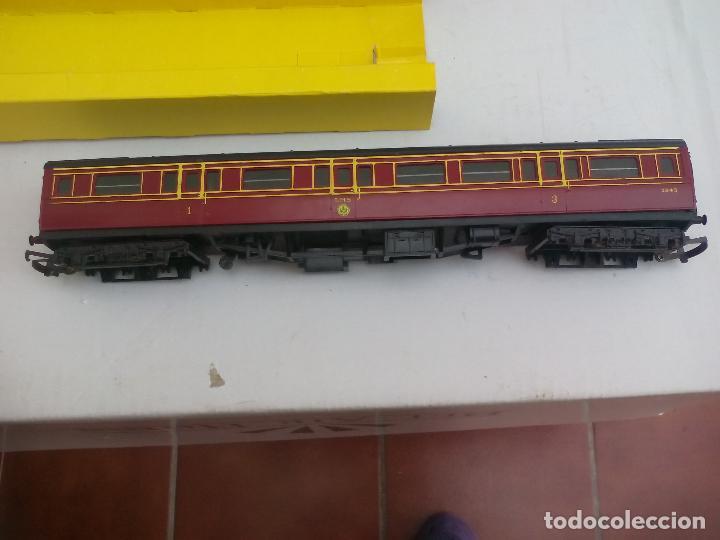 Trenes Escala: Vagón de tren Tri-ang Hornby Railways Composite Coach. R 747. Sin las ruedas - Foto 4 - 111324755