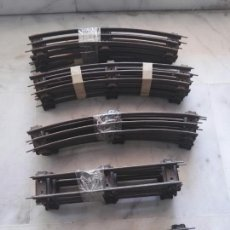 Trenes Escala: LOTE VIAS HORNBY 12 CURVAS 5 RECTA 1 RECTA PARA ALIMENTACIÓN. Lote 130556187