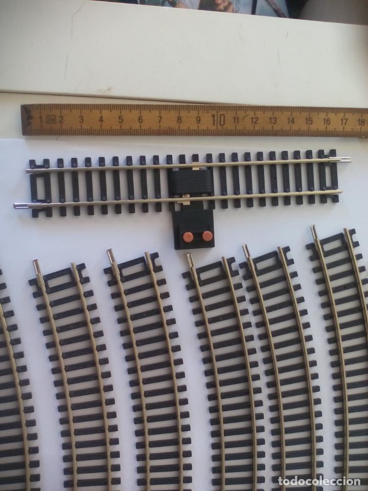 Trenes Escala: LOTE DE 10 DE VIAS DE TREN H0, MARCA HORNBY. R605, R8206, R600. HO - Foto 2 - 134290794