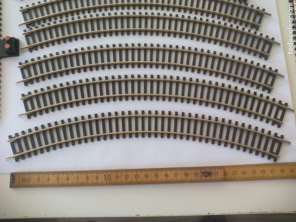 Trenes Escala: LOTE DE 10 DE VIAS DE TREN H0, MARCA HORNBY. R605, R8206, R600. HO - Foto 3 - 134290794