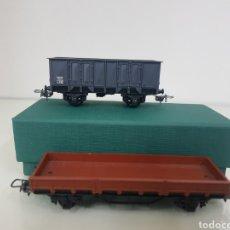Trenes Escala: LOTE DE DOS HORNBY MECANO FRANCES DE 11 CM DE LARGO. Lote 156835561