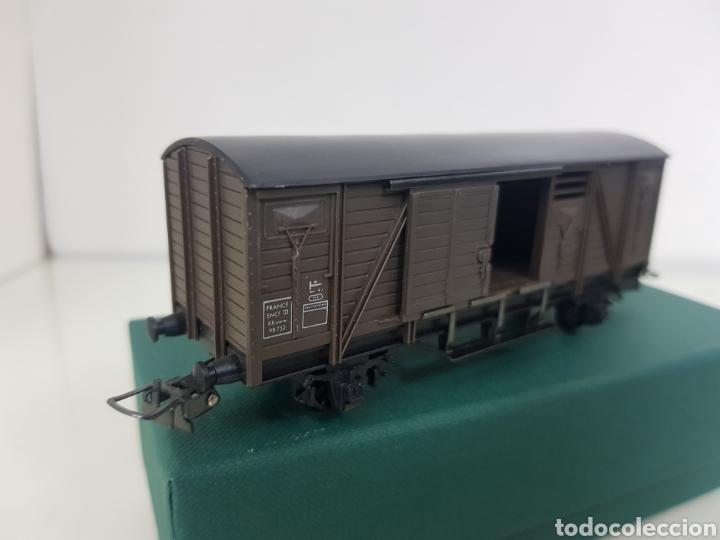 Trenes Escala: Hornby escala H0 corriente continua vagón marrón de 12 cm escala H0 - Foto 4 - 156836308
