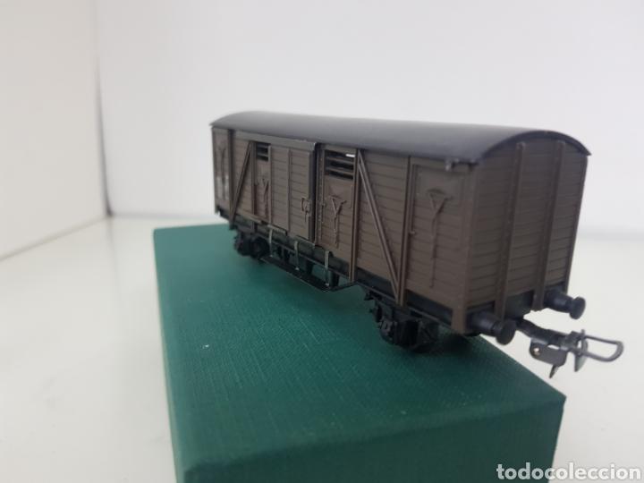 Trenes Escala: Hornby escala H0 corriente continua vagón marrón de 12 cm escala H0 - Foto 3 - 156836308