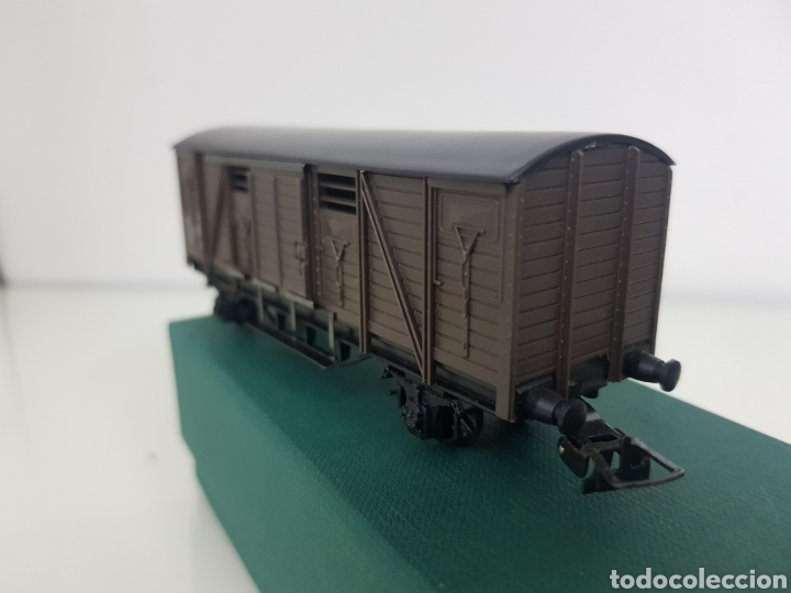 Trenes Escala: Hornby escala H0 corriente continua vagón marrón de 12 cm escala H0 - Foto 5 - 156836308