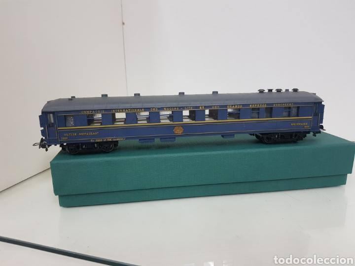 Trenes Escala: Vagón largo restaurante alemán Hornby Acho azul 26 cm - Foto 2 - 157366762