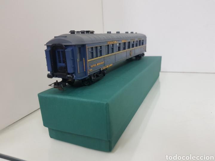 Trenes Escala: Vagón largo restaurante alemán Hornby Acho azul 26 cm - Foto 4 - 157366762