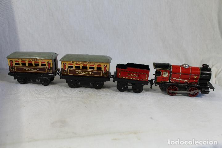 Trenes Escala: HORNBY TRAIN SET MADE IN ENGLAND, TREN ANTIGUO , JUGUETE ANTIGUO - Foto 4 - 162663334
