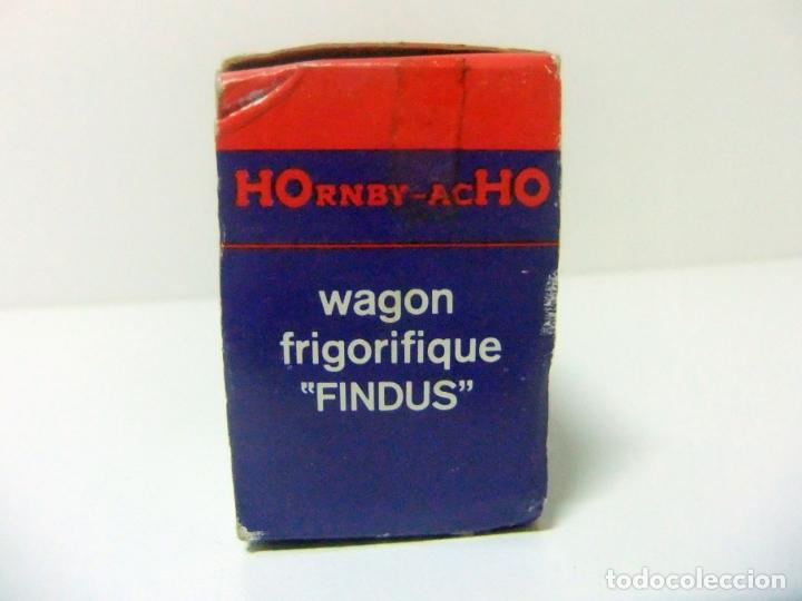 Trenes Escala: WAGON FRIGORIFIQUE FINDUS HORNBY-ACHO MECCANO-TRIANG REF. 7131 - H0 VAGÓN FRIGORÍFICO TREN HO - Foto 4 - 177061713
