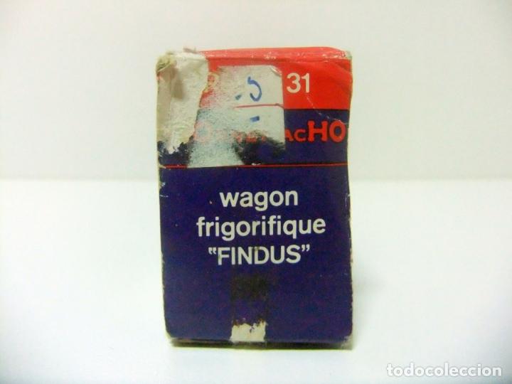 Trenes Escala: WAGON FRIGORIFIQUE FINDUS HORNBY-ACHO MECCANO-TRIANG REF. 7131 - H0 VAGÓN FRIGORÍFICO TREN HO - Foto 5 - 177061713