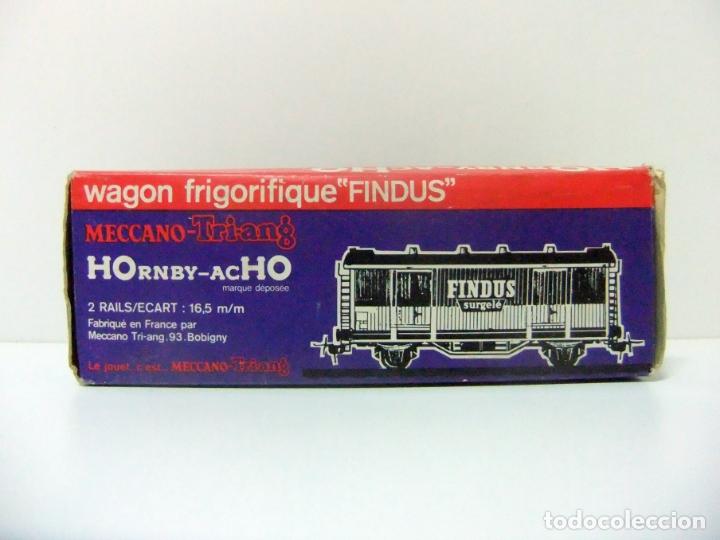 Trenes Escala: WAGON FRIGORIFIQUE FINDUS HORNBY-ACHO MECCANO-TRIANG REF. 7131 - H0 VAGÓN FRIGORÍFICO TREN HO - Foto 11 - 177061713