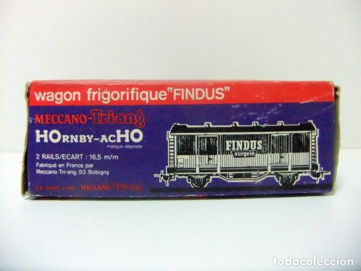 Trenes Escala: WAGON FRIGORIFIQUE FINDUS HORNBY-ACHO MECCANO-TRIANG REF. 7131 - H0 VAGÓN FRIGORÍFICO TREN HO - Foto 12 - 177061713