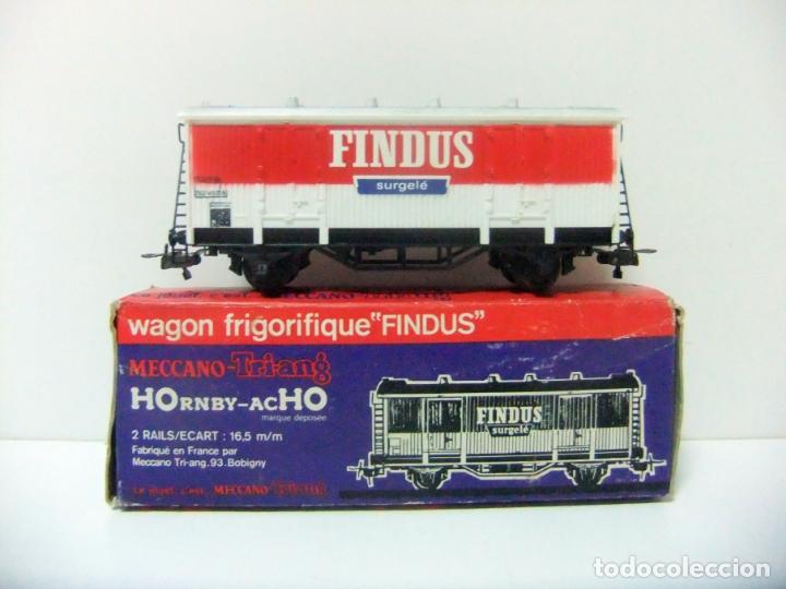 WAGON FRIGORIFIQUE FINDUS HORNBY-ACHO MECCANO-TRIANG REF. 7131 - H0 VAGÓN FRIGORÍFICO TREN HO (Juguetes - Trenes Escala H0 - Hornby H0)