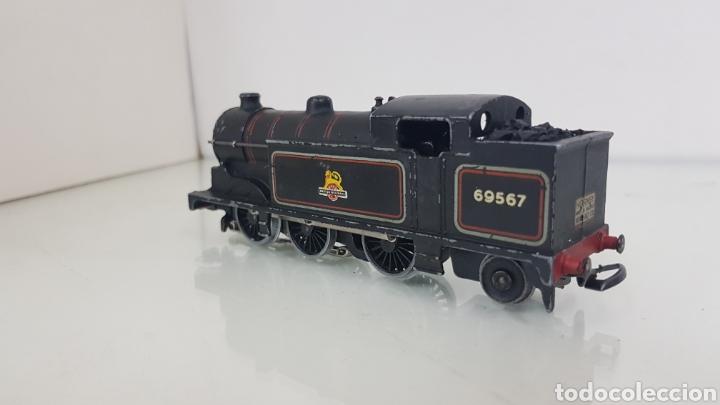Trenes Escala: Locomotora de vapor 69567 British railways escala H0 3 continua hornby de 15cms - Foto 2 - 177391622