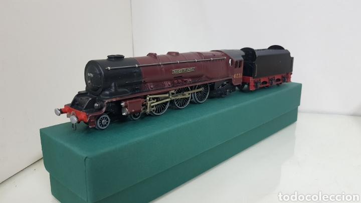 Trenes Escala: Hornby dublo locomotora escala H0 corriente continua a 3 raíles 6231 granate de 29 cm de repintado - Foto 3 - 187182620