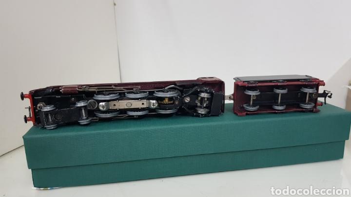Trenes Escala: Hornby dublo locomotora escala H0 corriente continua a 3 raíles 6231 granate de 29 cm de repintado - Foto 4 - 187182620