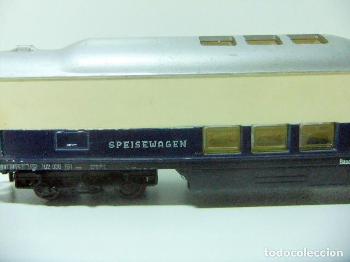 Trenes Escala: VAGÓN RESTAURANTE REF. 7446 + CAJA REF. 7450 HORNBY-ACHO MECCANO RUCO - H0 TYPE RHEINGOLD TREN WAGON - Foto 3 - 189432027