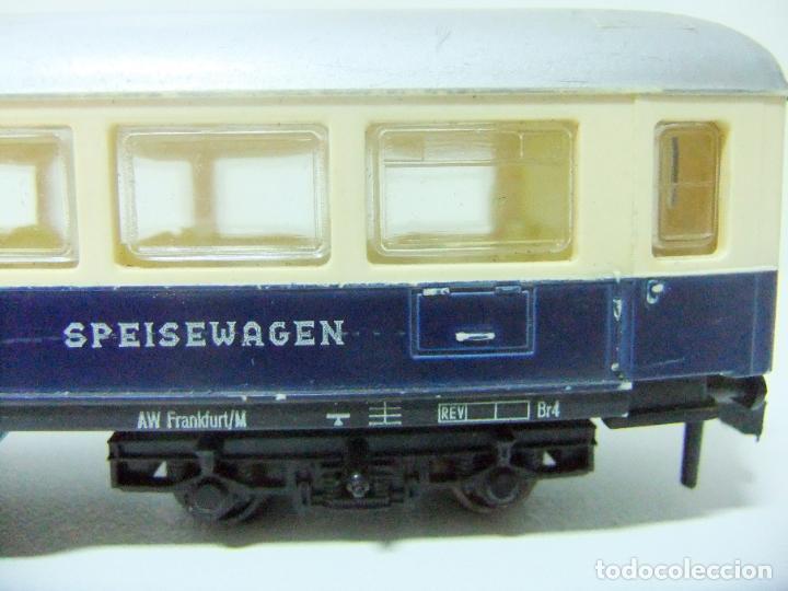 Trenes Escala: VAGÓN RESTAURANTE REF. 7446 + CAJA REF. 7450 HORNBY-ACHO MECCANO RUCO - H0 TYPE RHEINGOLD TREN WAGON - Foto 5 - 189432027