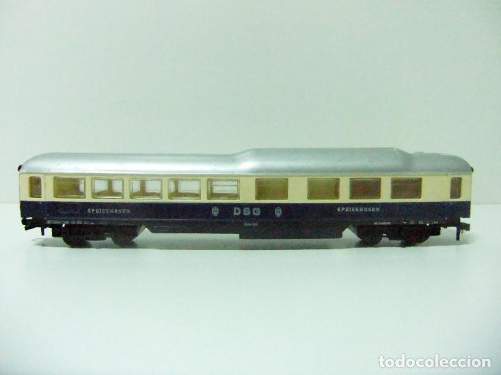 Trenes Escala: VAGÓN RESTAURANTE REF. 7446 + CAJA REF. 7450 HORNBY-ACHO MECCANO RUCO - H0 TYPE RHEINGOLD TREN WAGON - Foto 6 - 189432027