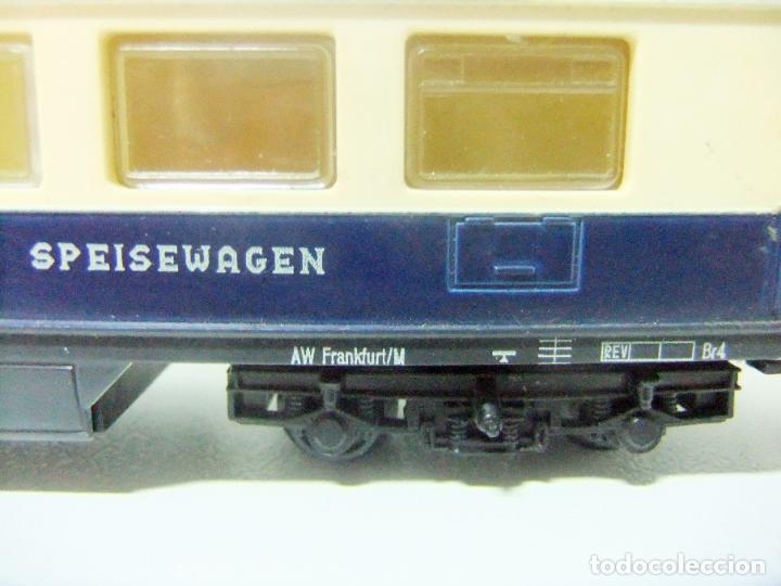 Trenes Escala: VAGÓN RESTAURANTE REF. 7446 + CAJA REF. 7450 HORNBY-ACHO MECCANO RUCO - H0 TYPE RHEINGOLD TREN WAGON - Foto 9 - 189432027