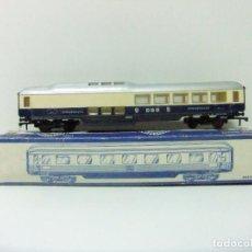 Trenes Escala: VAGÓN RESTAURANTE REF. 7446 + CAJA REF. 7450 HORNBY-ACHO MECCANO RUCO - H0 TYPE RHEINGOLD TREN WAGON. Lote 189432027