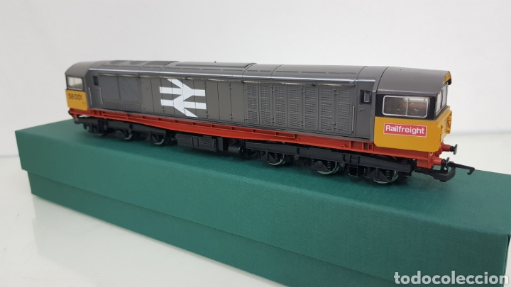 Trenes Escala: Hornby locomotora diésel corriente continua 58001 inglesa railfreight escala h0 25cms - Foto 2 - 191194385