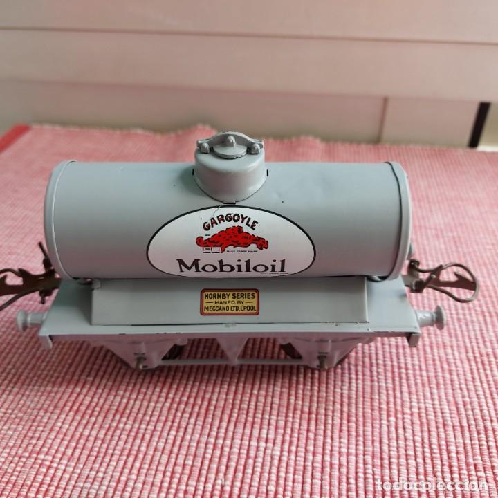 Trenes Escala: Vagon tren cisterna **MOBILOIL-GARGOYLE**Meccano--Hornby - Foto 3 - 214619840