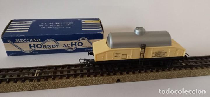 1 VAGÓN DE LECHE DE HORNBY ACHO, 1960, CON CAJA ORIGINAL, 11,5 CM, ENVIO 4,80 EUROS, X33 (Juguetes - Trenes Escala H0 - Hornby H0)