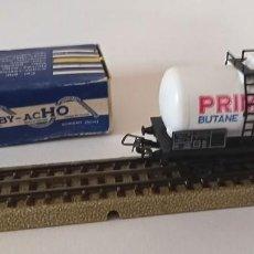 Trenes Escala: 1 VAGÓN CISTERNA DE HORNBY ACHO, 1960, CON CAJA ORIGINAL, 9,5 CM, ENVIO 4,80 EUROS, X34. Lote 244971730