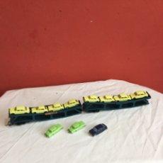 Trains Échelle: LOTE DE 11 AUSTIN 1800 EN ESCALA 1/86 APROX. DE MINIX MADE IN ENGLAND - AÑO 1960 CON 2 VAGONES .... Lote 258311340