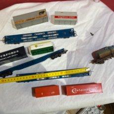 Trains Échelle: LOTE VAGONES CONTENEDORES TREN GREAT BRITAIN. VER FOTOS. Lote 258517655