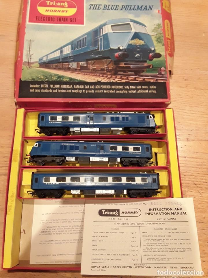 TRIANG HORNBY, THE BLUE PULLMAN, FUNCIONANDO, AÑOS 60. (Juguetes - Trenes Escala H0 - Hornby H0)