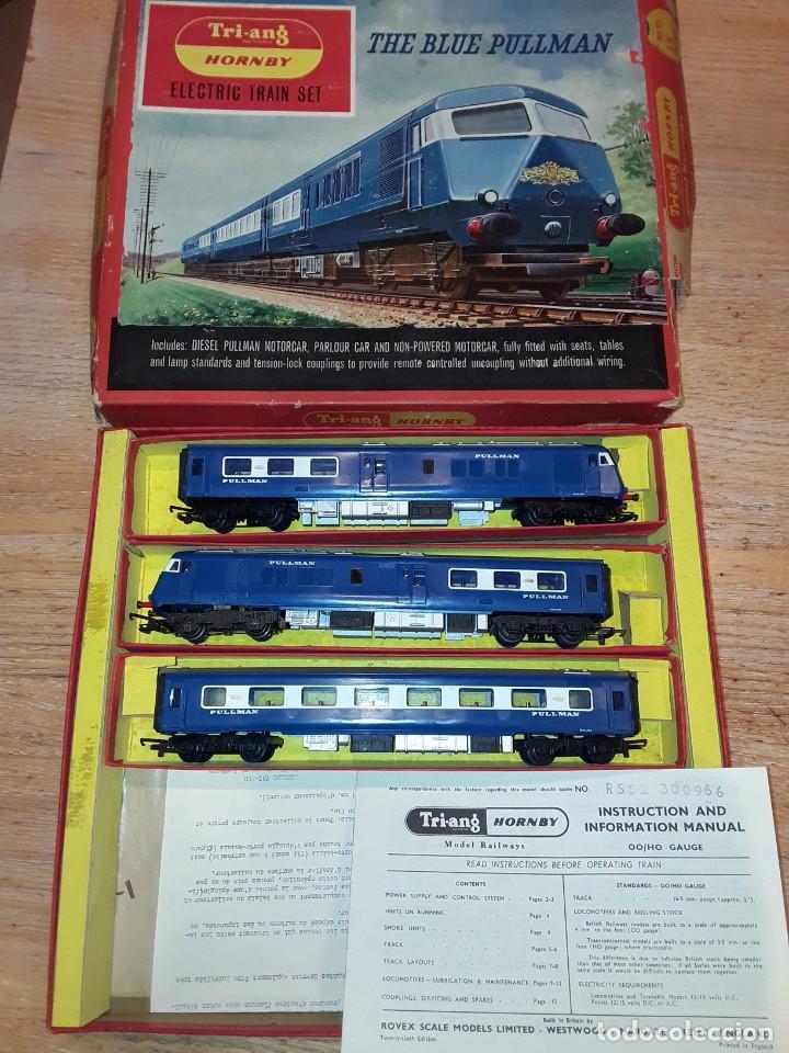 Trenes Escala: Triang Hornby, The Blue Pullman, funcionando, años 60. - Foto 2 - 272289198