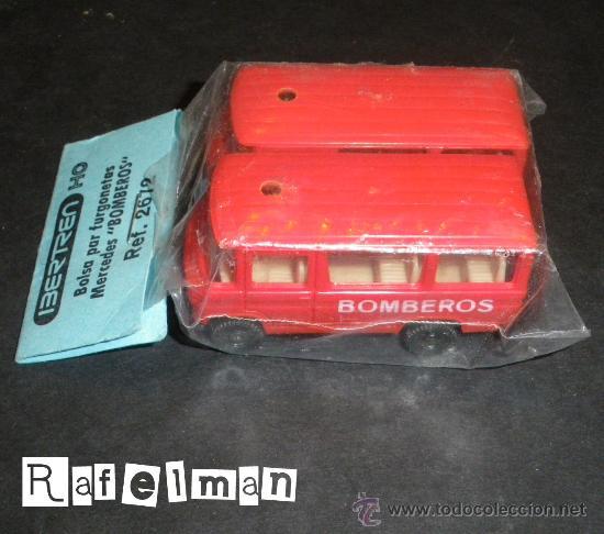 IBERTREN HO - REF.2672 BOLSA DOS FURGONETAS MERCEDES DE BOMBEROS (Juguetes - Trenes a Escala - Ibertren H0)
